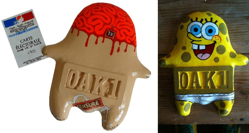 OAK1 - News, 2012 (Left) / Sponge Bob, 2011 (Right)