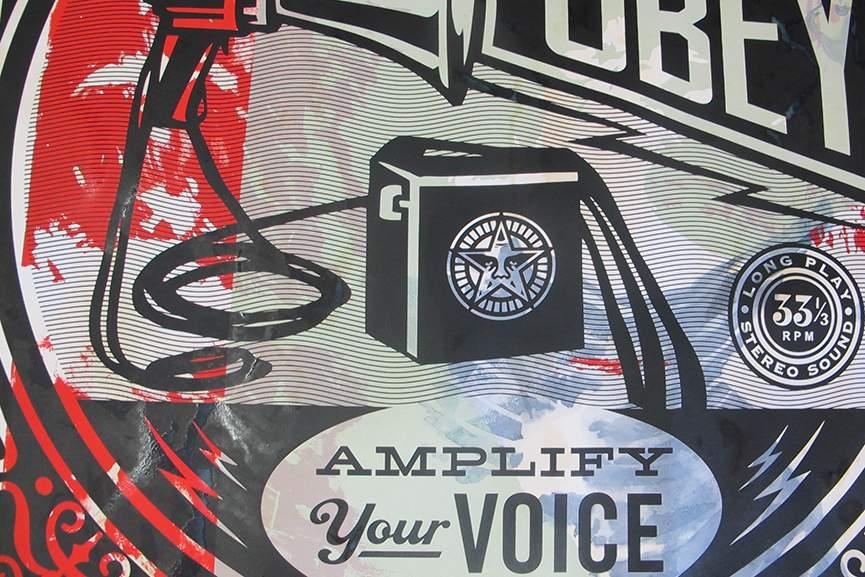 Shepard Fairey poster print black day