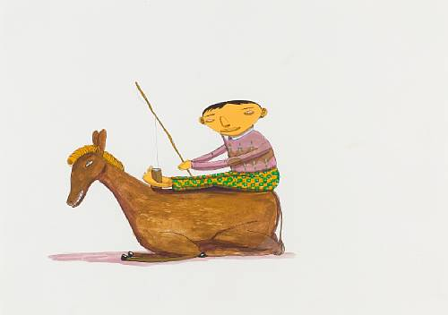 Os Gemeos-Boy and Donkey-