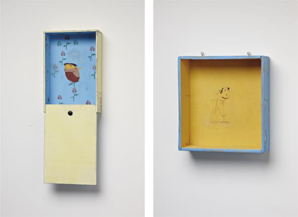 Os Gemeos-Untitled (Peephole)/Untitled (Yellow Box)-2003