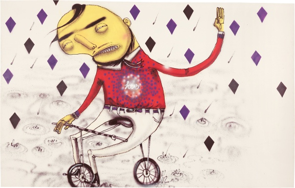 Os Gemeos-Untitled (Storm of Love)-2001