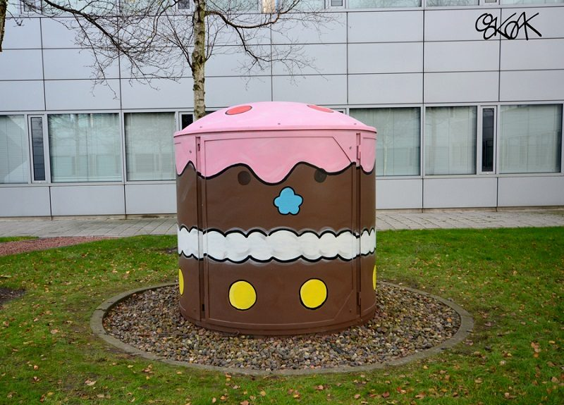 Oakoak - The Big Cupcake, Amsterdam, 2015