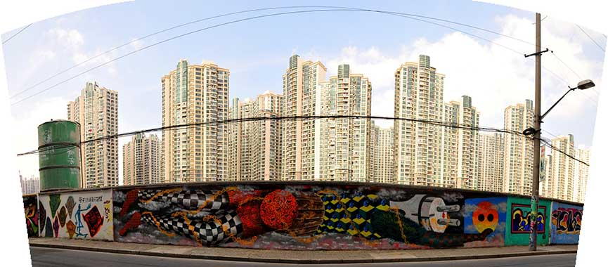 Obie Platon - Pollution, Shanghai, 2014 - panoramic view