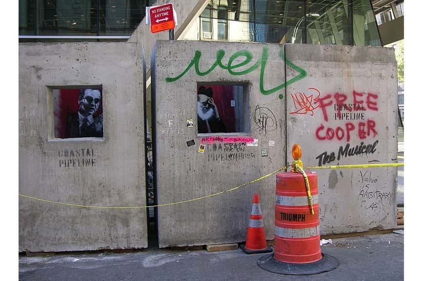 banksy mural painting, October 12th, Manhattan