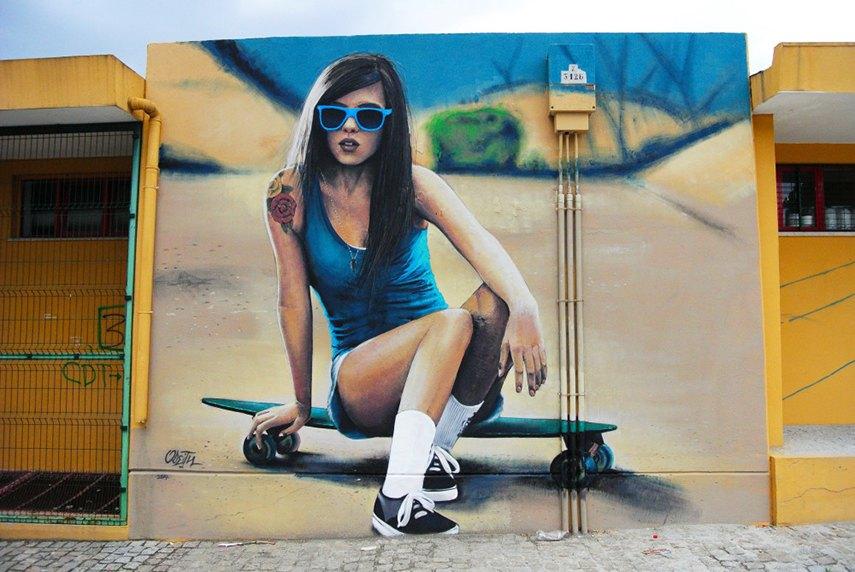 Odeith - Skater Girl, 2014 youtube video account mural anmelden aufrufe dauer