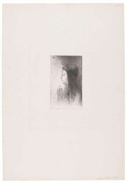 Odilon Redon-Chevaleries Sentimentales (Frontispiece)-1893