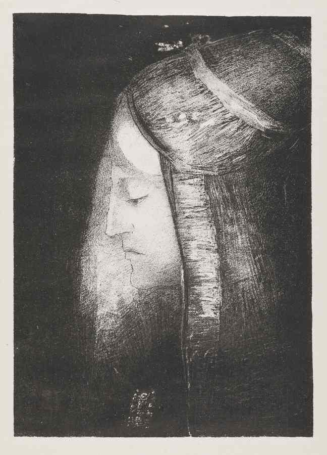 Odilon Redon-Profil De Lumiere-1886