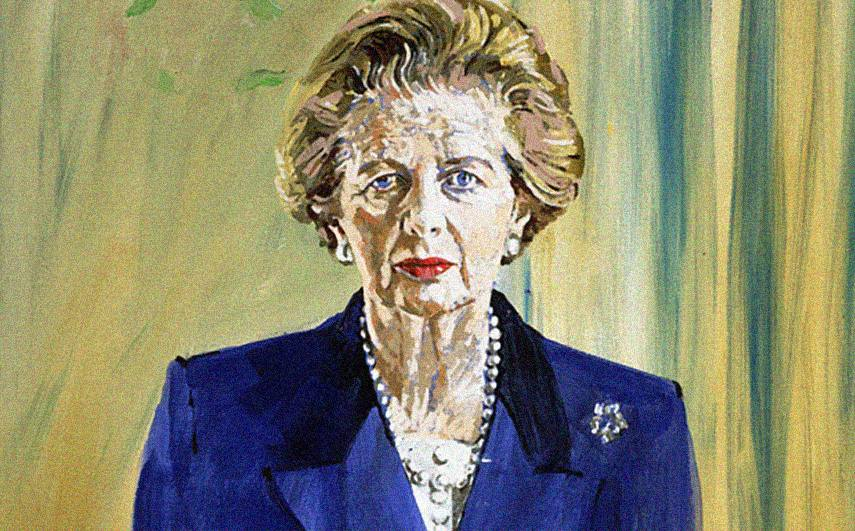 Oil painting of Margaret Thatcher by Henry Mee, 1992. Parliamentary Collection.
