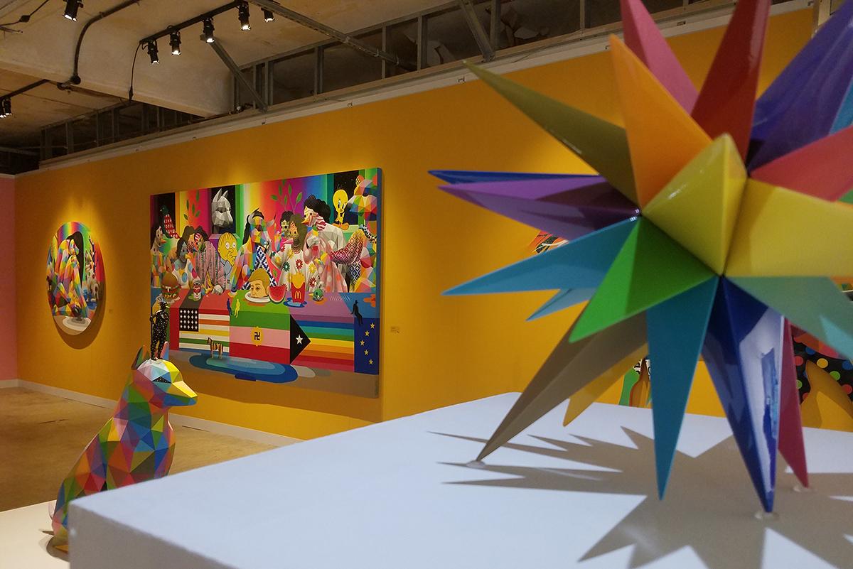 Okuda at Moniker Art Fair 2019