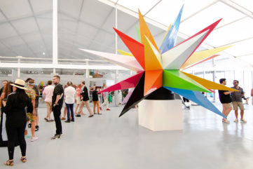 Okuda Installation at SCOPE Miami Beach, at Press & VIP Preview