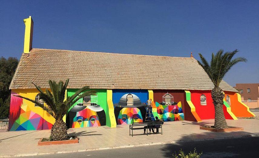 Okuda San Miguel - Abandoned church - Youssofia, Morocco, 2016 - 1