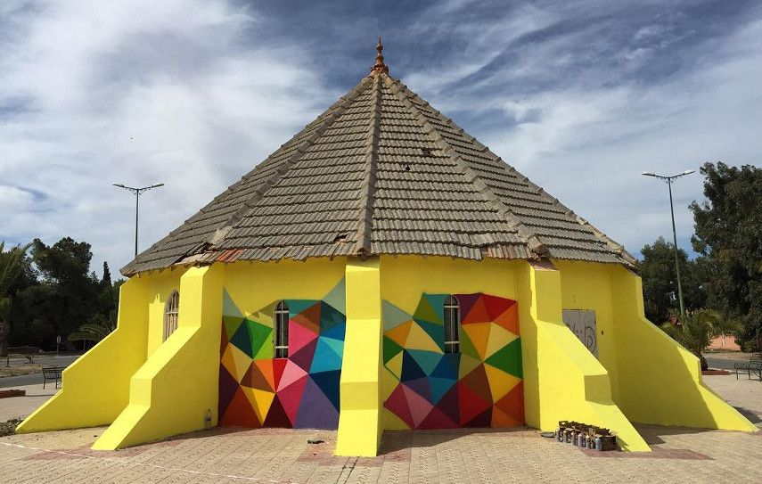 Okuda San Miguel -  Abandoned church in Morocco, work in progress