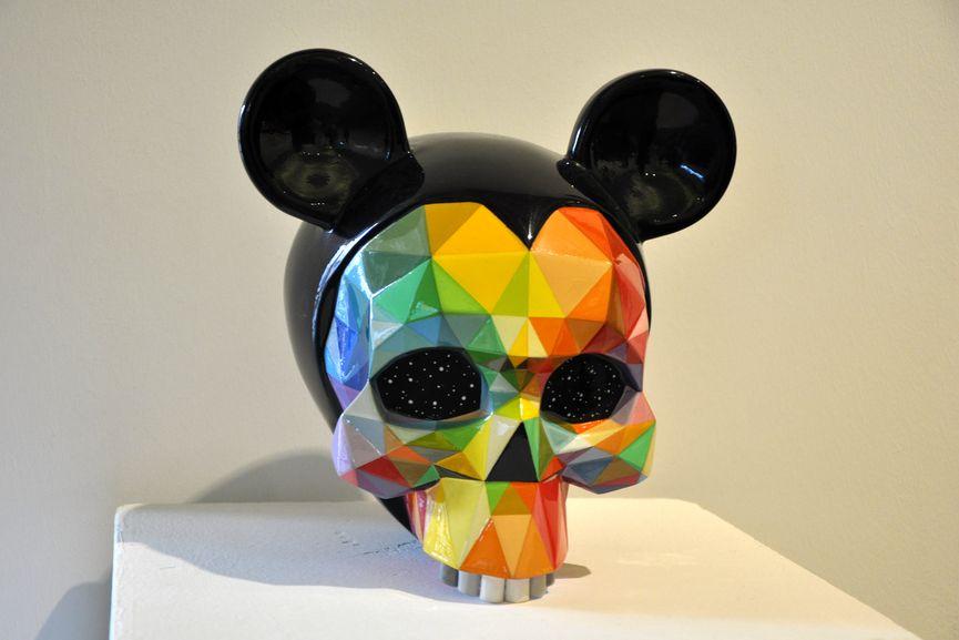 Okuda San Miguel - Mickey's Skull, 2018