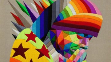 Okuda San Miguel - Praying in Calcutta (detail), 2018