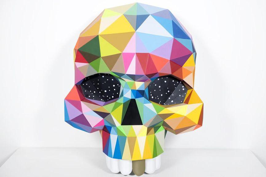 Okuda San Miguel - Skull, 2018