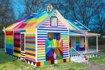 Okuda Completes His Rainbow Embassy in Fort Smith!