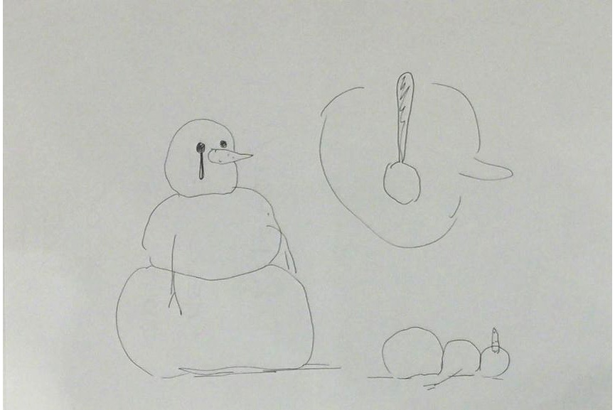 Olav Westphalen - Untitled Snowman Drawing, 2007
