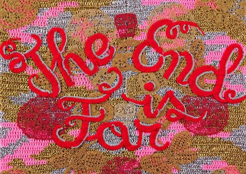 Yarn bombing street art