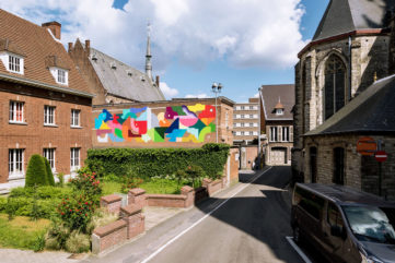 The Crystal Ship Embellishes Dendermonde! Images of Murals by Henrik Haven
