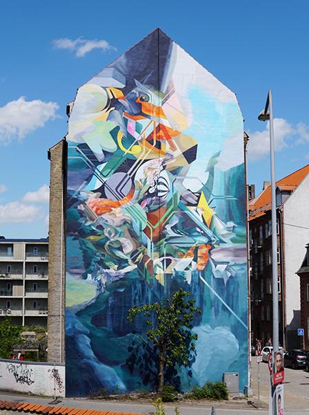 Oliver Vernon Mural, Aalborg 2019