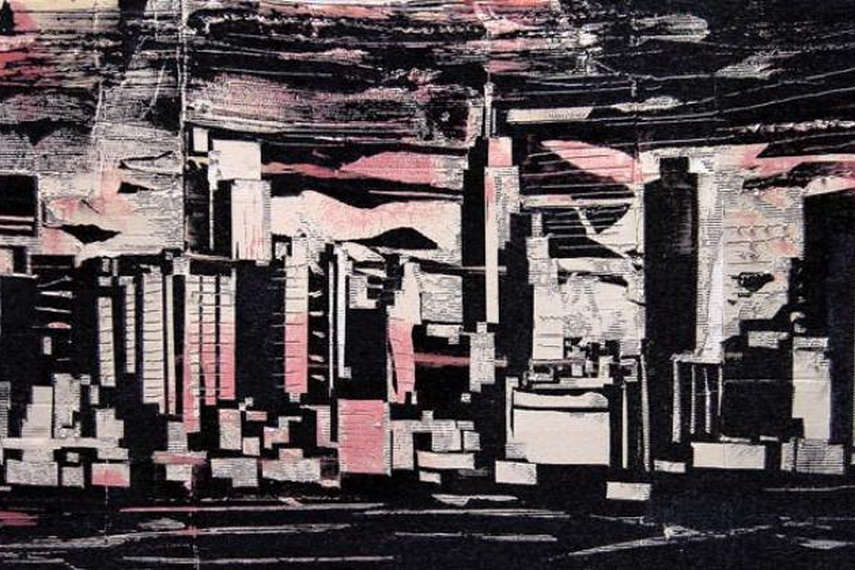 Somehow abstract paintings represent a profile of modern life and are conducted as urban landscapes