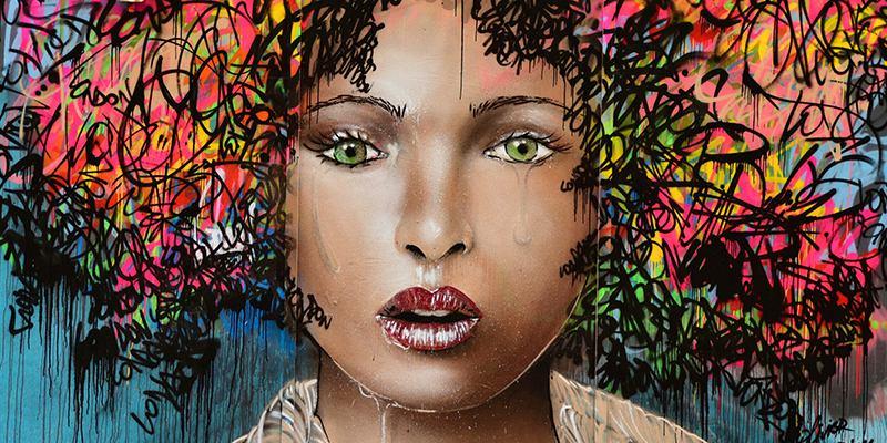 Olivier Roubieu - Girl hair mural