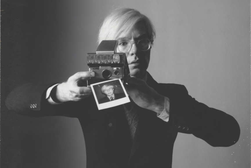 Oliviero Toscani - Andy Warhol with Camera, 1974