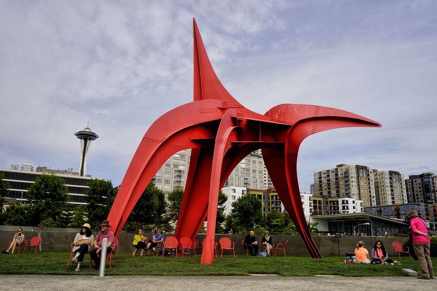 Olympic Sculpture Park, Eagle by Alexander Calder, via Howard Stanbury