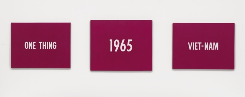 On Kawara, Title, 1965, Acrylic on canvas, triptych. National Gallery of Art, Washington D.C., Patrons' Permanent Fund