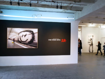 """""""One Week with 1UP"""" installation view at Urban Spree Galerie, 2018"""