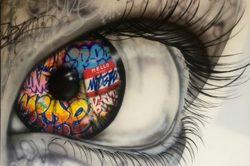 Graffiti and Pop Culture Collide in a New Solo Show by Onemizer