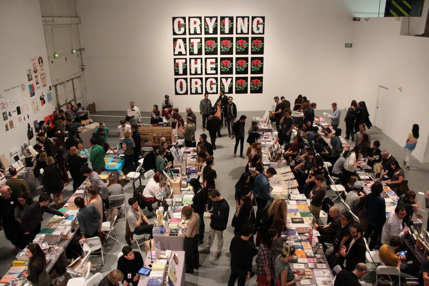 Opening Night at the Los Angeles Art Book Fair