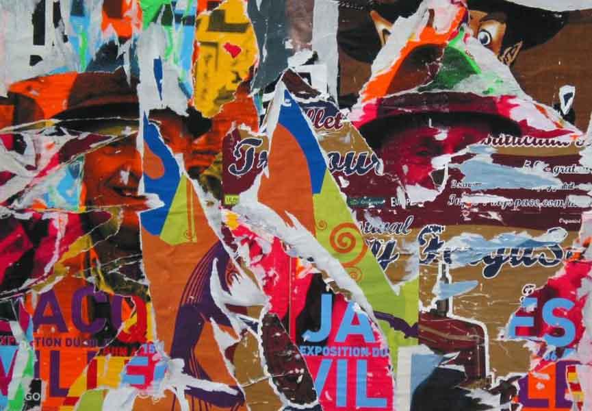 Jacques Villeglé, artwork