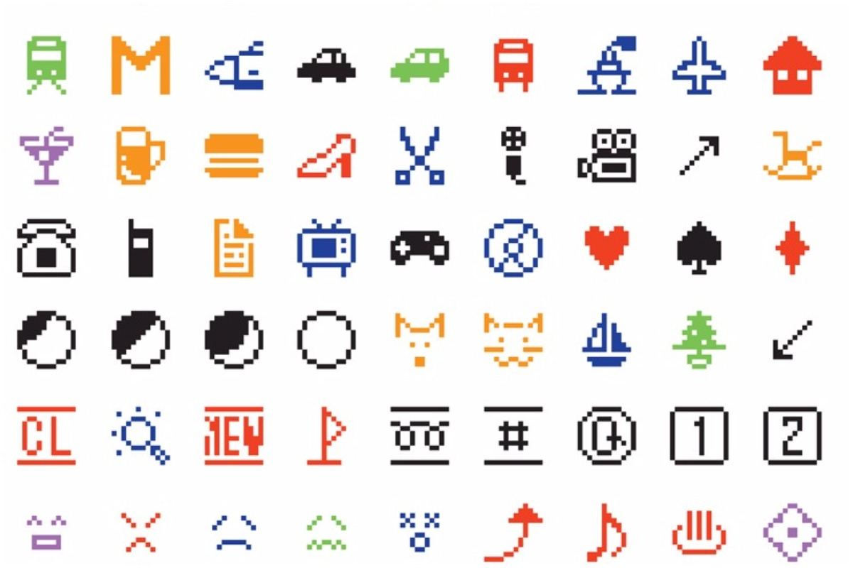 Is the original emoji art widewalls original emoji set 2 science men shigetaka and kurita created modern tech terms and news in 2016 176 biocorpaavc Choice Image