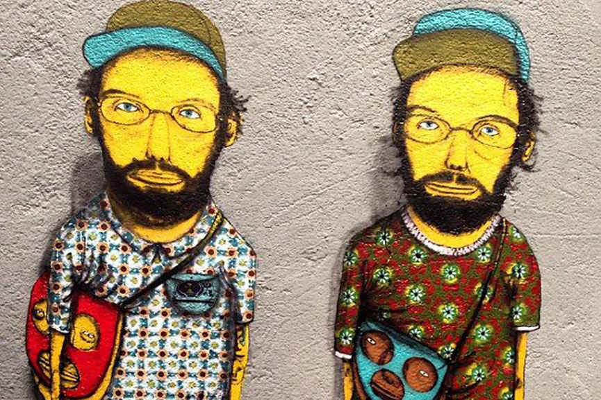 Os Gemeos design works world work use style modern life