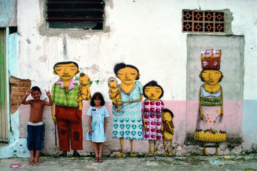 The work of os gêmeos has been acclaimed and they are the best known Brazilian graffiti artists
