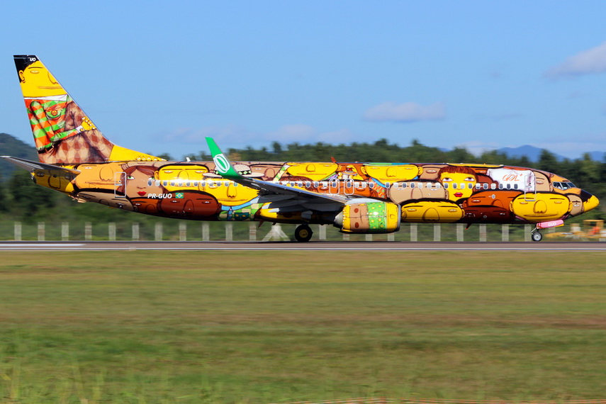 Os Gemeos - Artwork on Boing 373 - image via airlinestravel