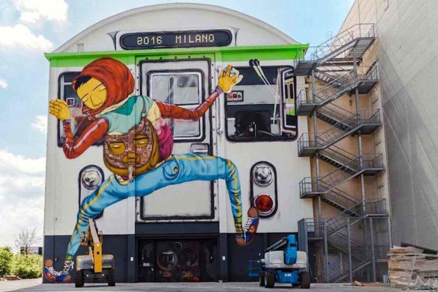 Os Gemeos - Efemero, Milan,Italy, 2016 via whudat de