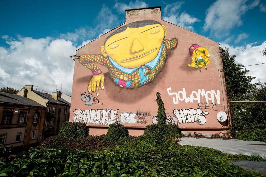 Os Gemeos - Vilnius Street Art Festival, 2015 - image via pinterest