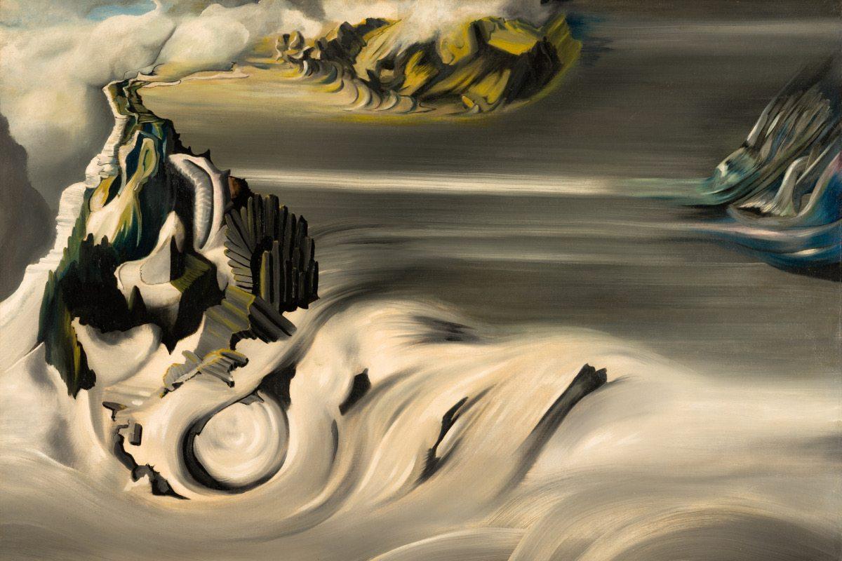 Oscar Dominguez - Paysage cosmique, 1938-1939