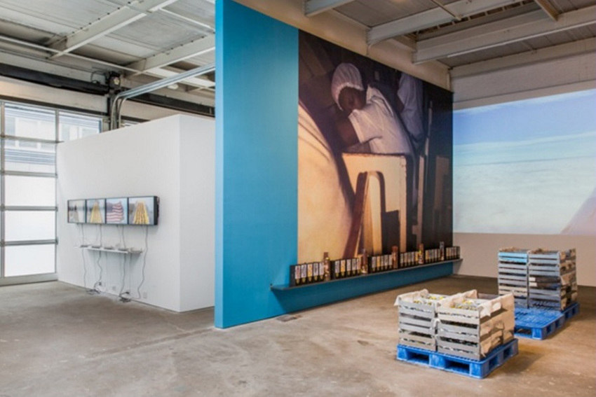 A Mercantile Novel, 2014, installation view at, New York, image courtesy of, gallery, home