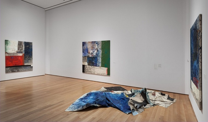 Oscar - The Forever Now- Contemporary Painting in an Atemporal World, 2014, installation View at MoMA, New York, image courtesy of Carlos-Ishikawa