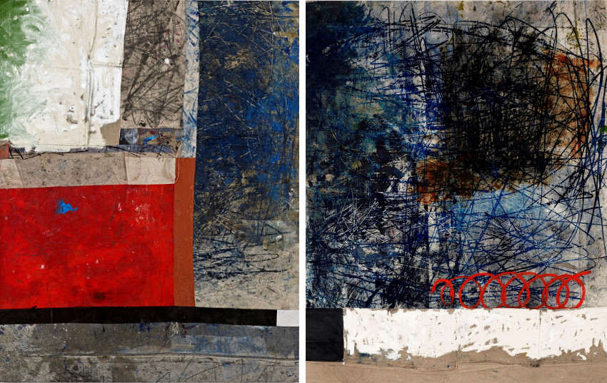 Oscar - Untitled, 2014 (Left) - 1-2, 2014 (Right), images courtesy of