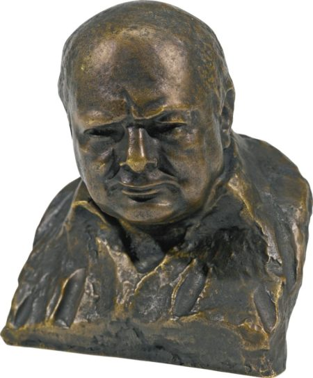 Oscar Nemon-Bust Of Winston Churchill-