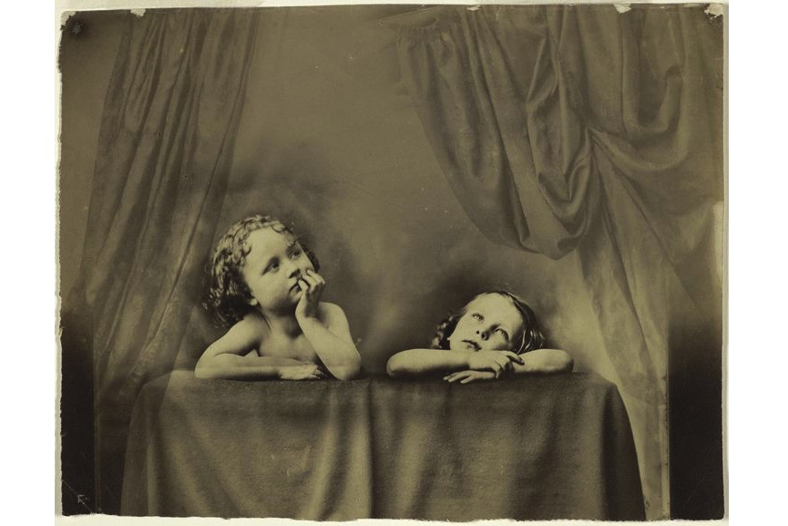 Oscar Rejlander - Non Angeli sed Angli (Not Angels but Anglos), after Raphael's Sistine Madonna, about 1854–1856