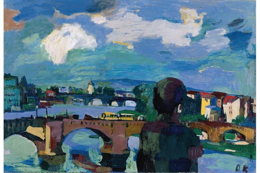 Dresden, Augustus Bridge with Figure from Behind, 1923