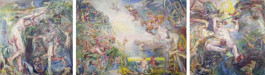 Oskar Kokoschka - The Prometheus Triptych- Hades and Persephone, Apocalypse, Prometheus, 1950