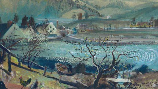 Oskar Laske (Austrian, 1874-1951), Vom Murufe [On the banks