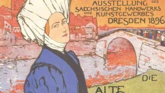Otto Fischer - Dresden, Die Alte Stadt, 1897 (detail)