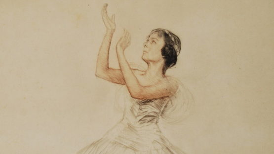 Otto Goetze - SWAN LAKE'S BALLERINA (detail), ca 1920